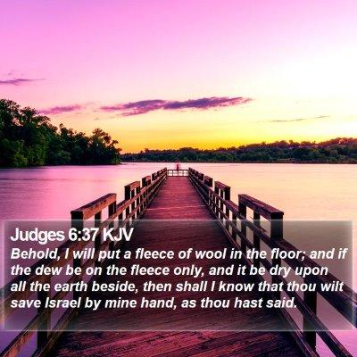Judges 6:37 KJV Bible Verse Image
