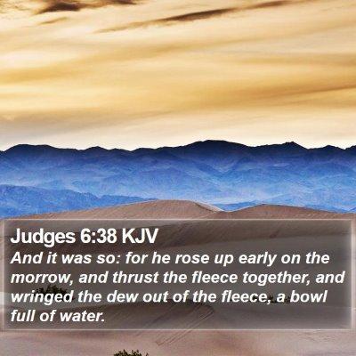 Judges 6:38 KJV Bible Verse Image