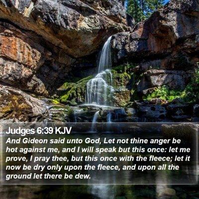 Judges 6:39 KJV Bible Verse Image