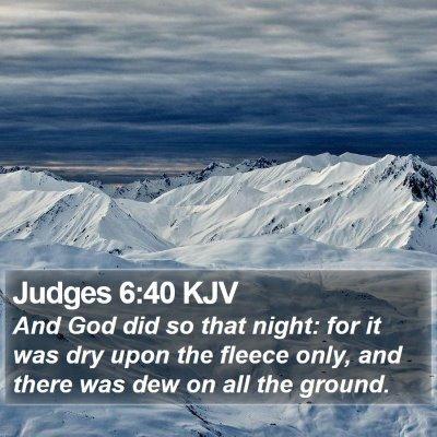 Judges 6:40 KJV Bible Verse Image