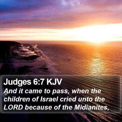 Judges 6:7 KJV Bible Verse Image
