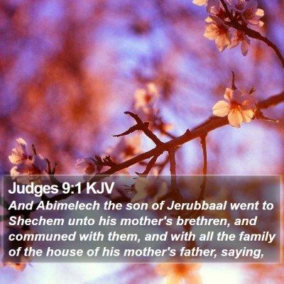Judges 9:1 KJV Bible Verse Image