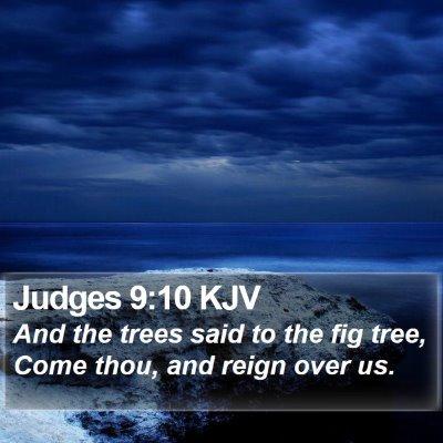 Judges 9:10 KJV Bible Verse Image