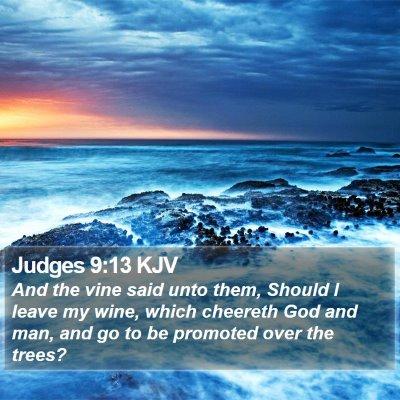 Judges 9:13 KJV Bible Verse Image