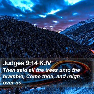 Judges 9:14 KJV Bible Verse Image