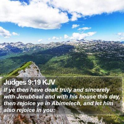 Judges 9:19 KJV Bible Verse Image