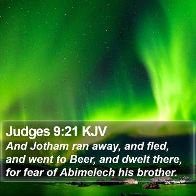Judges 9:21 KJV Bible Verse Image