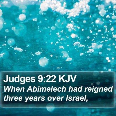 Judges 9:22 KJV Bible Verse Image