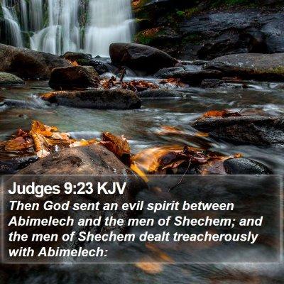 Judges 9:23 KJV Bible Verse Image