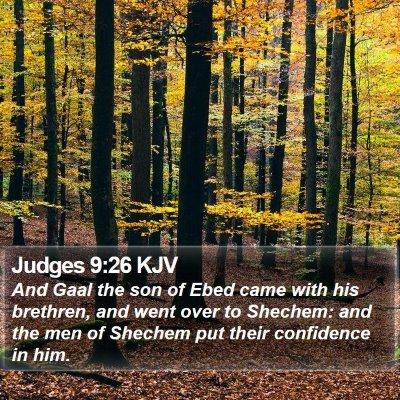 Judges 9:26 KJV Bible Verse Image