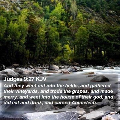 Judges 9:27 KJV Bible Verse Image