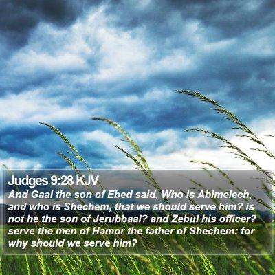 Judges 9:28 KJV Bible Verse Image