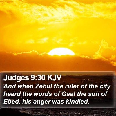 Judges 9:30 KJV Bible Verse Image