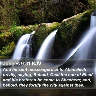 Judges 9:31 KJV Bible Verse Image