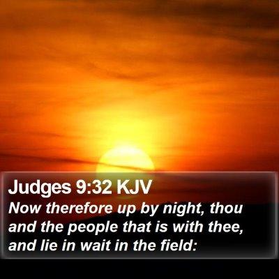 Judges 9:32 KJV Bible Verse Image