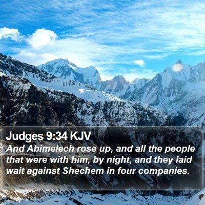 Judges 9:34 KJV Bible Verse Image