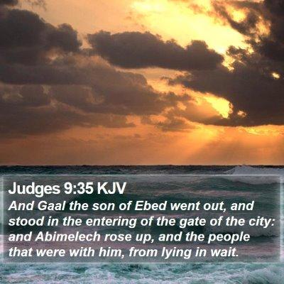 Judges 9:35 KJV Bible Verse Image