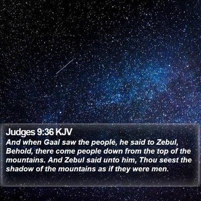 Judges 9:36 KJV Bible Verse Image