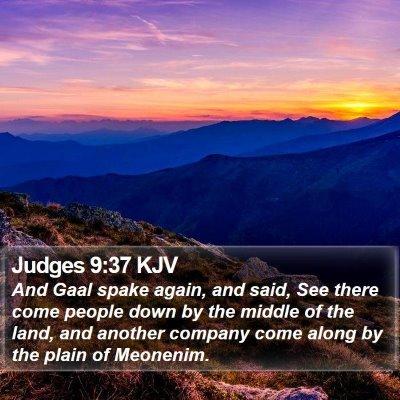 Judges 9:37 KJV Bible Verse Image