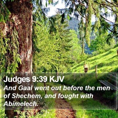Judges 9:39 KJV Bible Verse Image