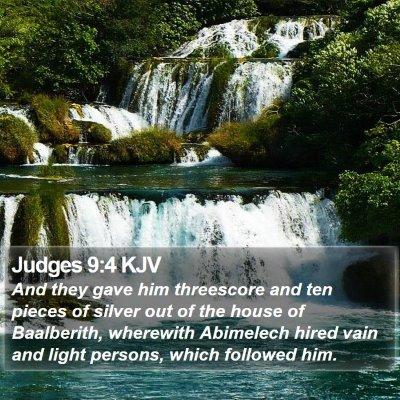 Judges 9:4 KJV Bible Verse Image
