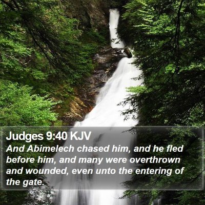 Judges 9:40 KJV Bible Verse Image