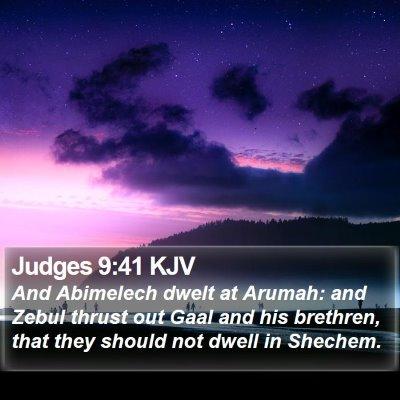 Judges 9:41 KJV Bible Verse Image