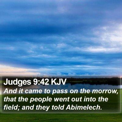 Judges 9:42 KJV Bible Verse Image