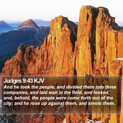 Judges 9:43 KJV Bible Verse Image