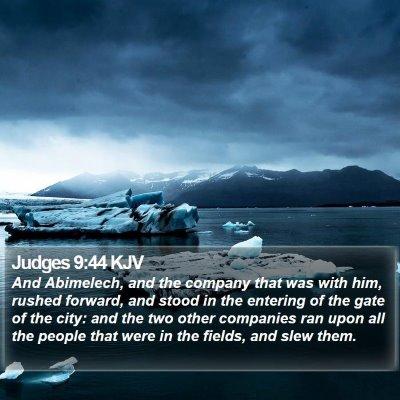 Judges 9:44 KJV Bible Verse Image