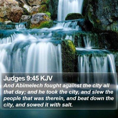 Judges 9:45 KJV Bible Verse Image