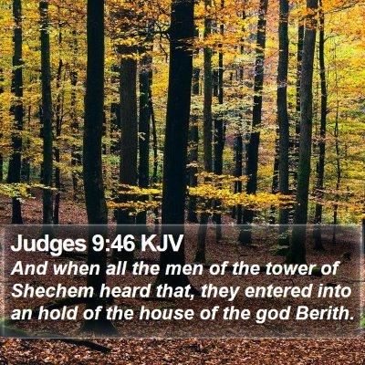 Judges 9:46 KJV Bible Verse Image