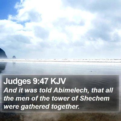Judges 9:47 KJV Bible Verse Image