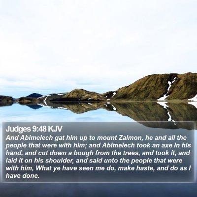 Judges 9:48 KJV Bible Verse Image