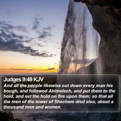 Judges 9:49 KJV Bible Verse Image