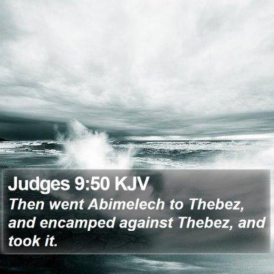 Judges 9:50 KJV Bible Verse Image