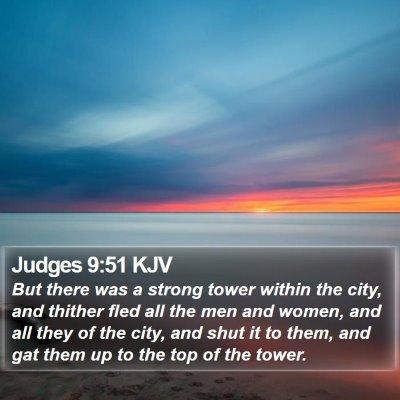 Judges 9:51 KJV Bible Verse Image