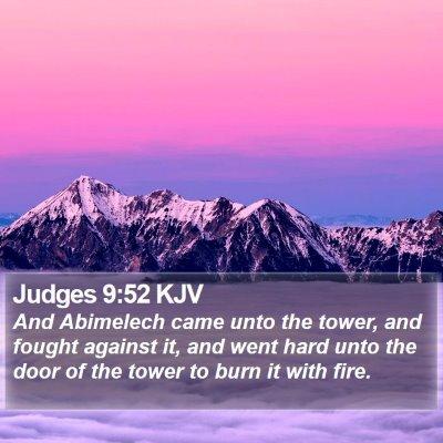 Judges 9:52 KJV Bible Verse Image