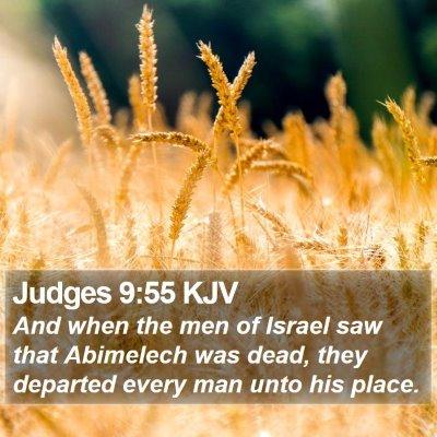 Judges 9:55 KJV Bible Verse Image