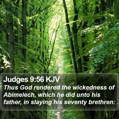 Judges 9:56 KJV Bible Verse Image