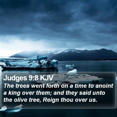 Judges 9:8 KJV Bible Verse Image