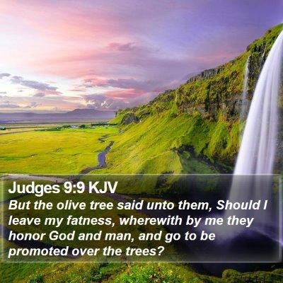 Judges 9:9 KJV Bible Verse Image