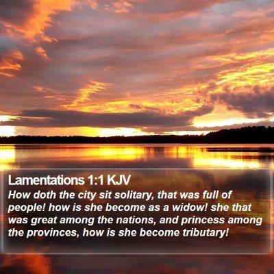 Lamentations 1:1 KJV Bible Verse Image