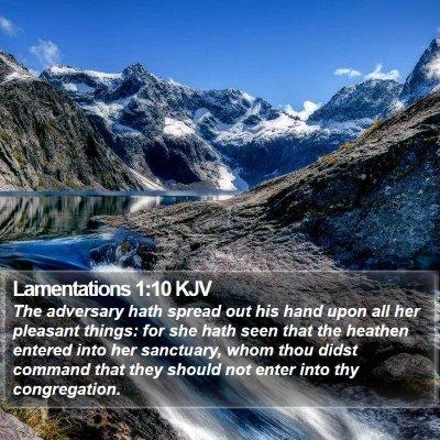 Lamentations 1:10 KJV Bible Verse Image