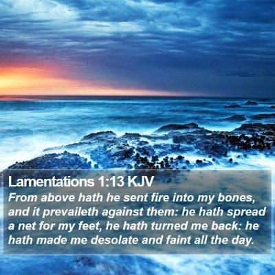 Lamentations 1:13 KJV Bible Verse Image