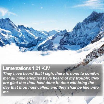 Lamentations 1:21 KJV Bible Verse Image