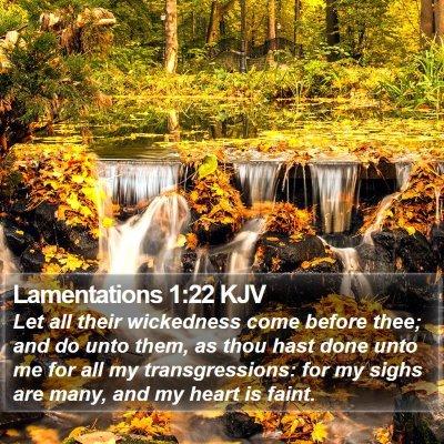 Lamentations 1:22 KJV Bible Verse Image