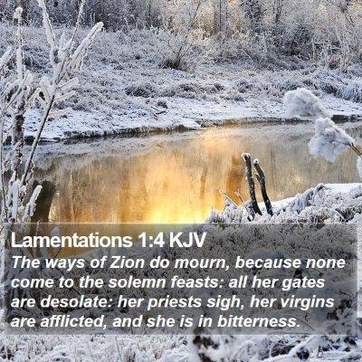 Lamentations 1:4 KJV Bible Verse Image
