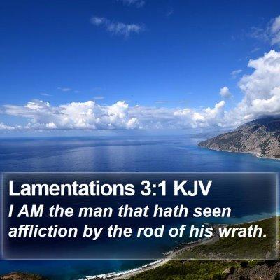 Lamentations 3:1 KJV Bible Verse Image