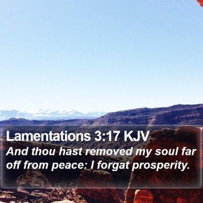 Lamentations 3:17 KJV Bible Verse Image